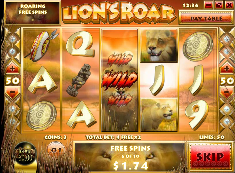 Lions-Roar gratisspinn